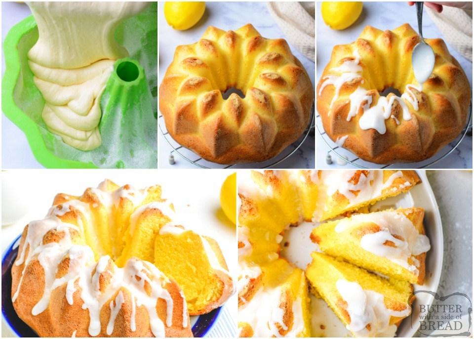 how to make Iced Lemon Bundt Cake recipe