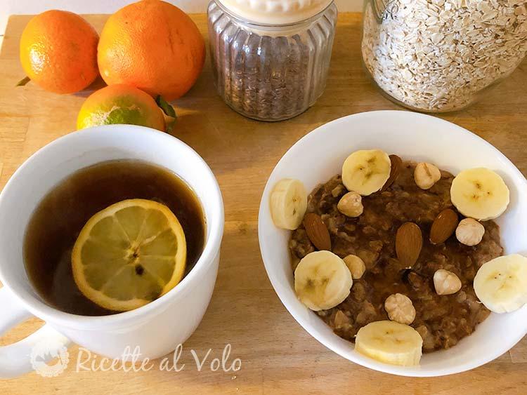 Chocolate oat porridge