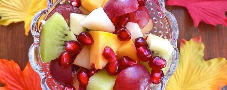 Autumn fruit salad with pomegranate - Recipes on the fly