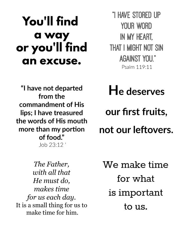 Bible Motivation Printable - Southern Plate