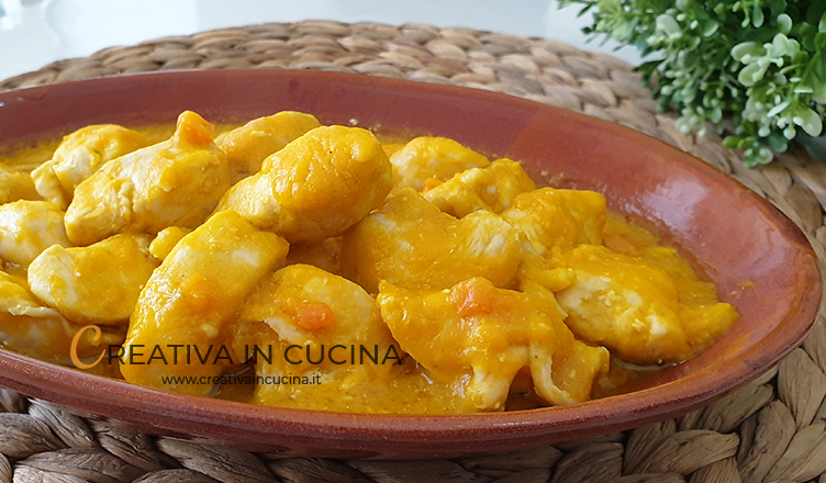 Chicken nuggets with pumpkin cream recipe from Creativa in the kitchen