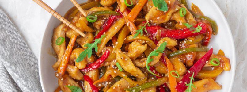 Chicken stir fry with seasonal vegetables