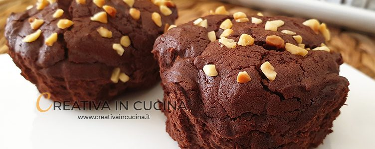 Yeast-free and flour-free chocolate muffins recipe from Creativa in the kitchen