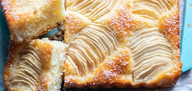 Coconut and apple pie