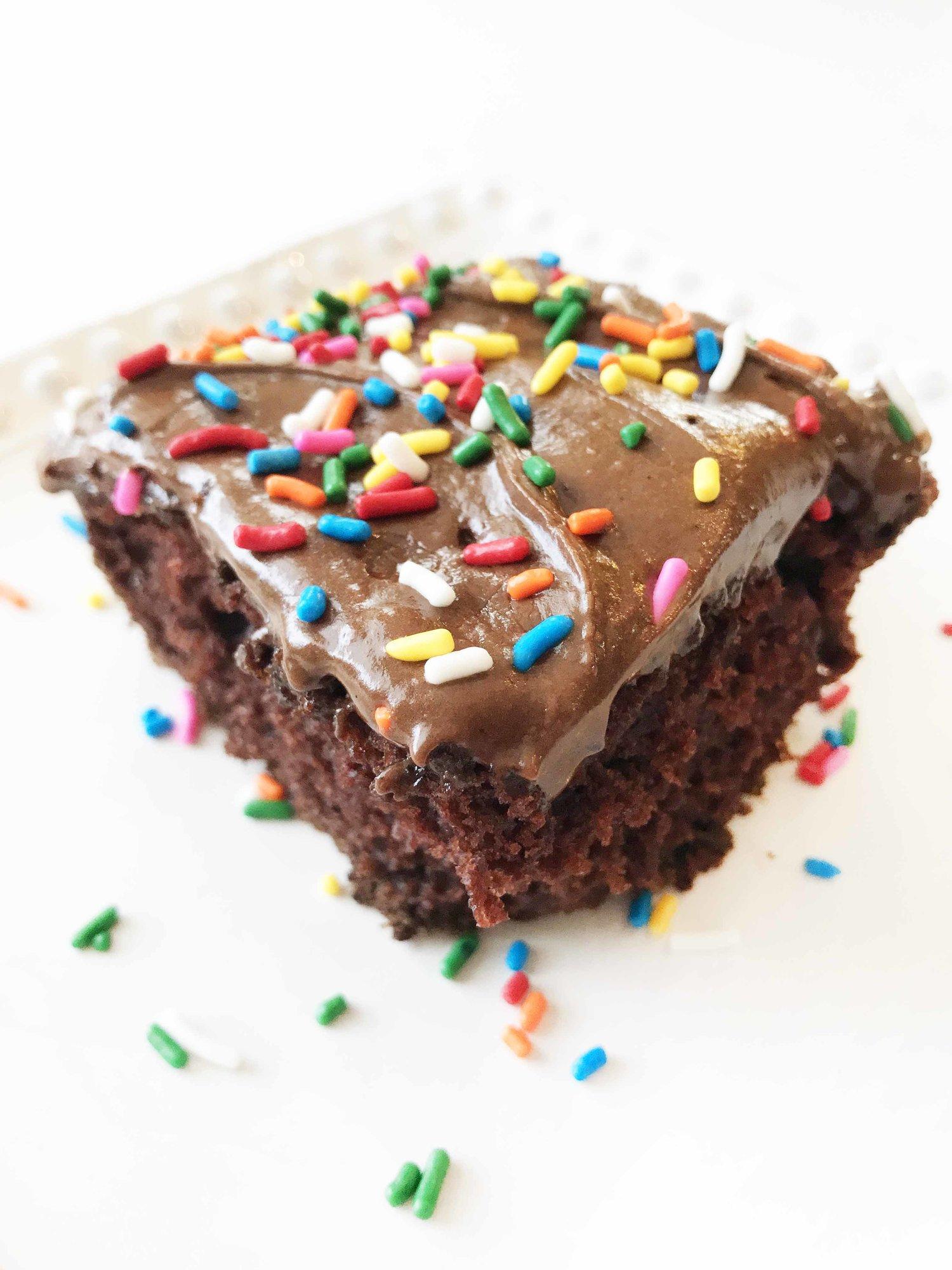 Dark Chocolate 'Crazy Cake' — The Skinny Fork