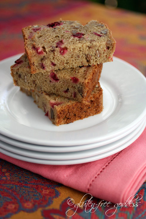 Photo of gluten free cranberry bread