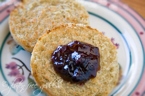 Lovely gluten free English muffins with nooks and crannies