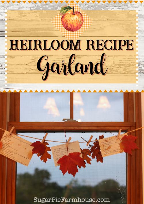 Heirloom Recipe Garland - Southern Plate