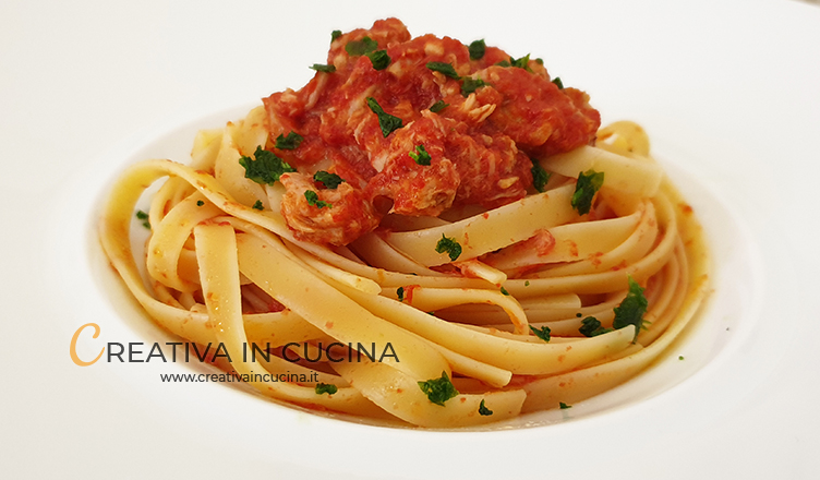 Linguine sauce and tuna recipe from Creativa in the kitchen