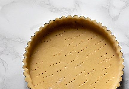 how to make the shortcrust pastry shell - Pistachio tart recipe