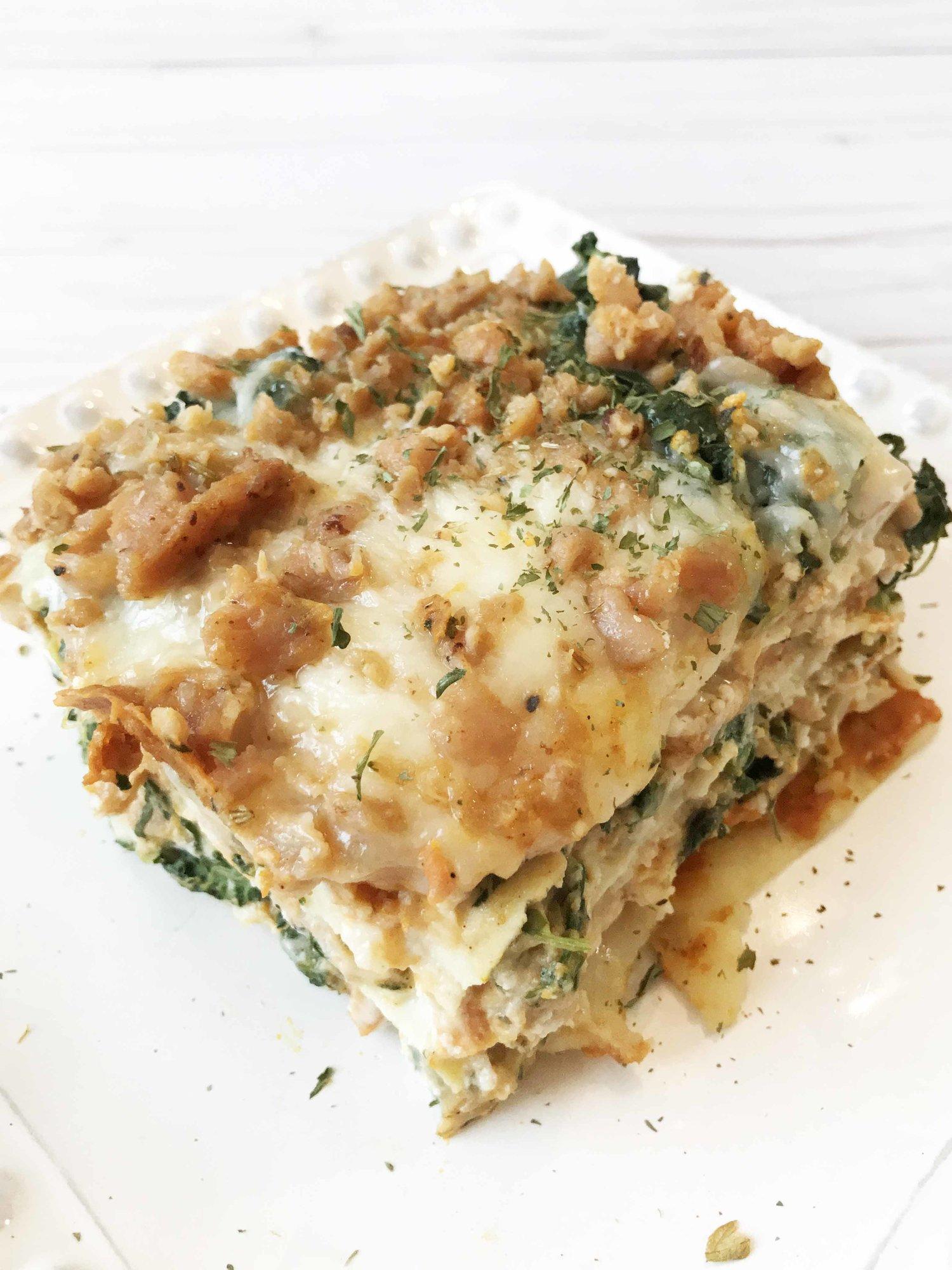 Pumpkin Alfredo Lasagna — The Skinny Fork