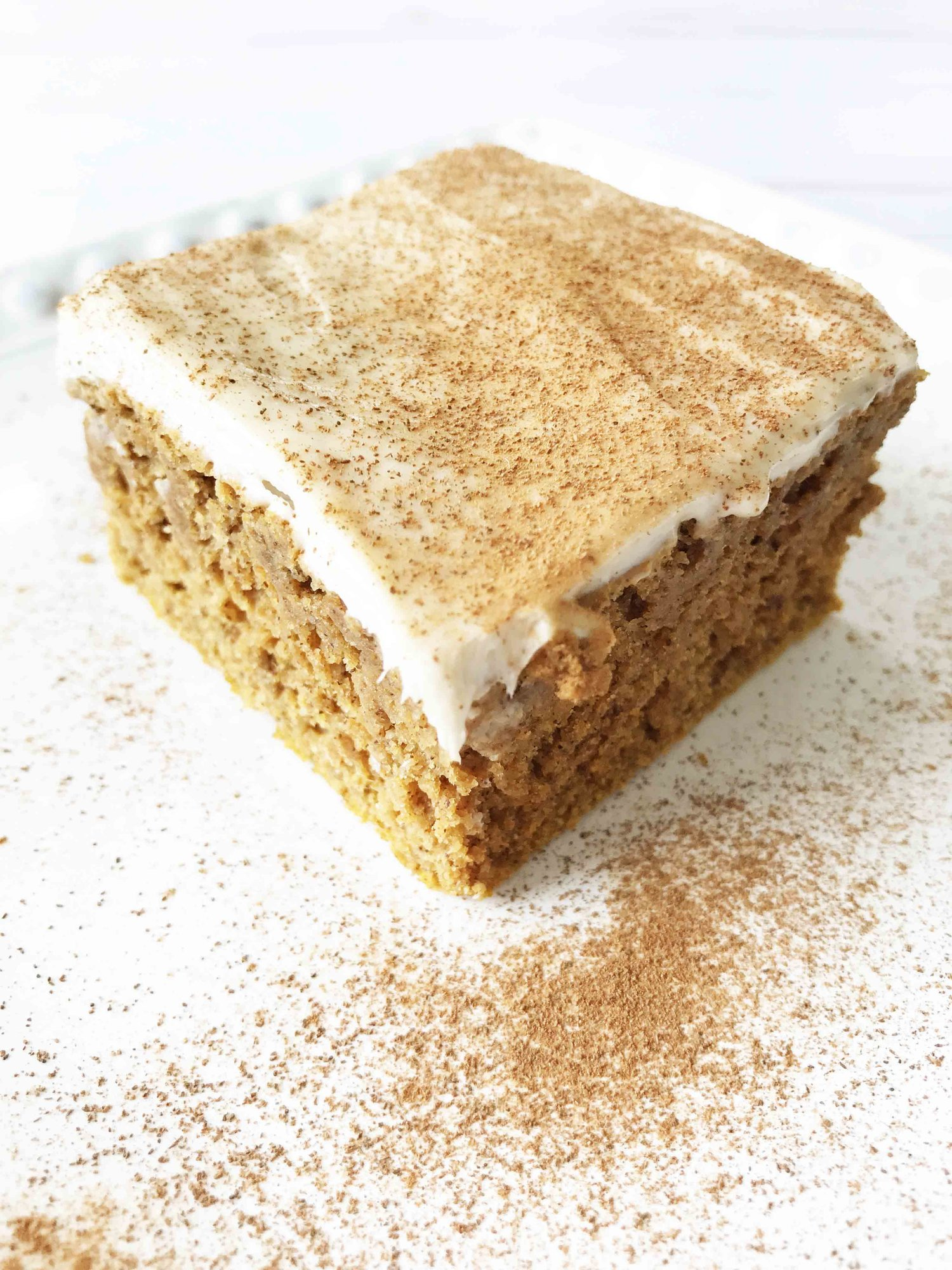 Skinny Pumpkin Spice Bars + Maple Cream Cheese Frosting — The Skinny Fork