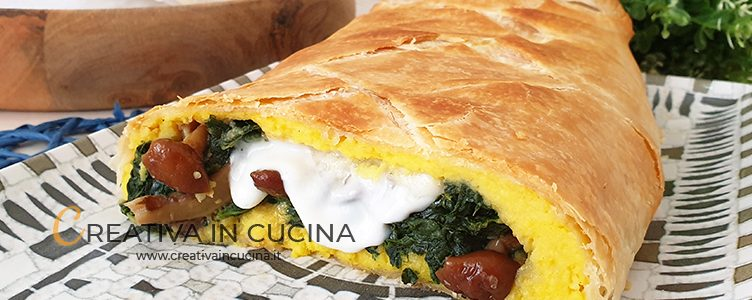 Vegetarian puff pastry roll recipe by Creativa in the kitchen