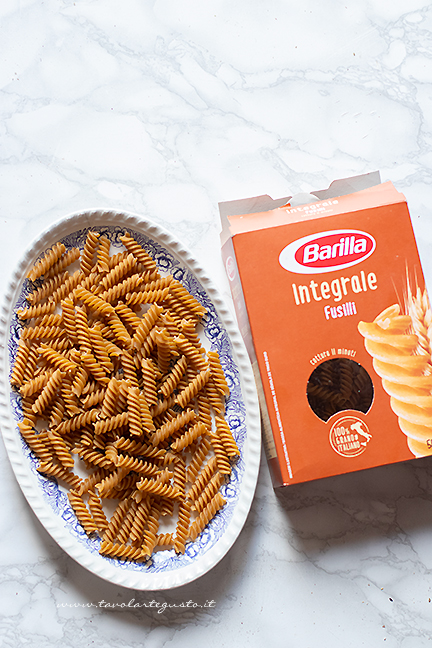 how to make wholemeal pasta with pepper cream