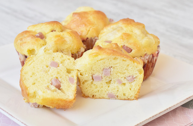 """Salted ham muffins """"style ="""" width: 640px;"""