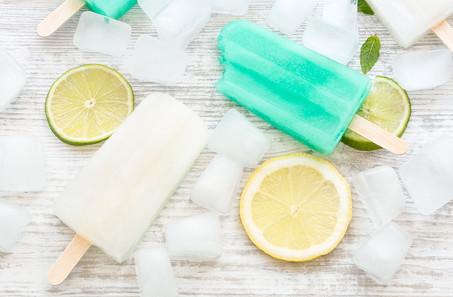 """Lemon lime and mint popsicles """"style ="""" width: 640px;"""
