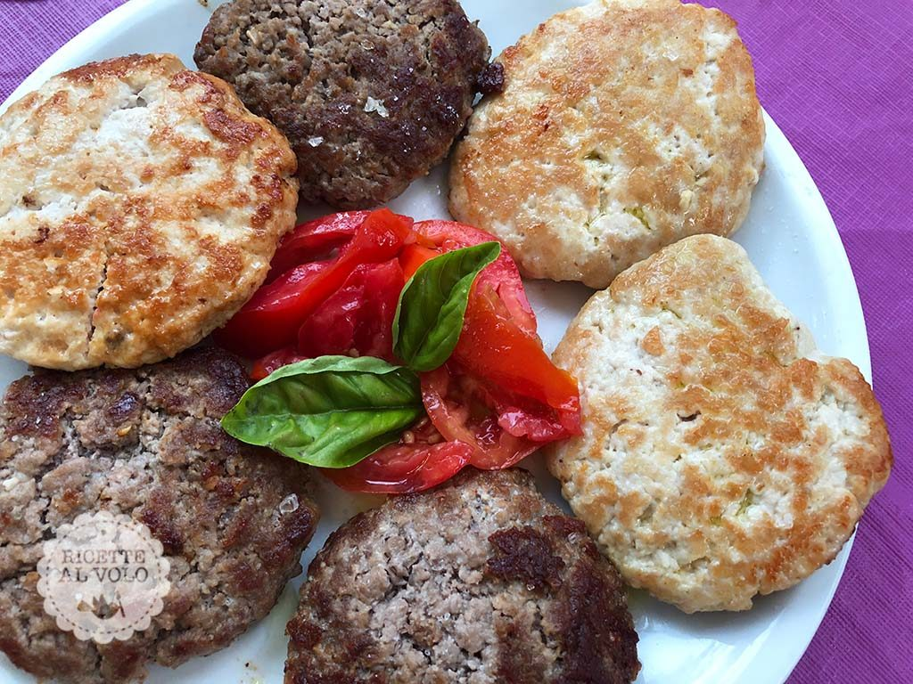 chicken and beef burger