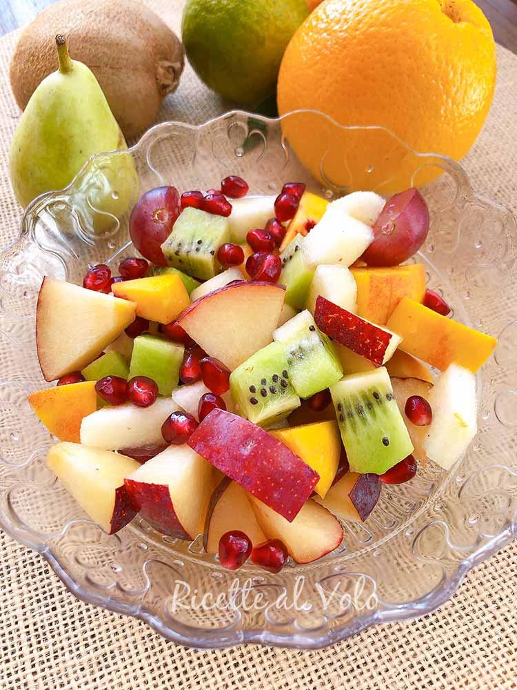Autumn fruit salad with pomegranate
