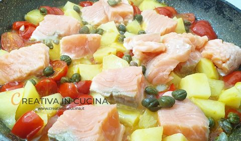 Salmon and potatoes recipe from Creativa in the kitchen