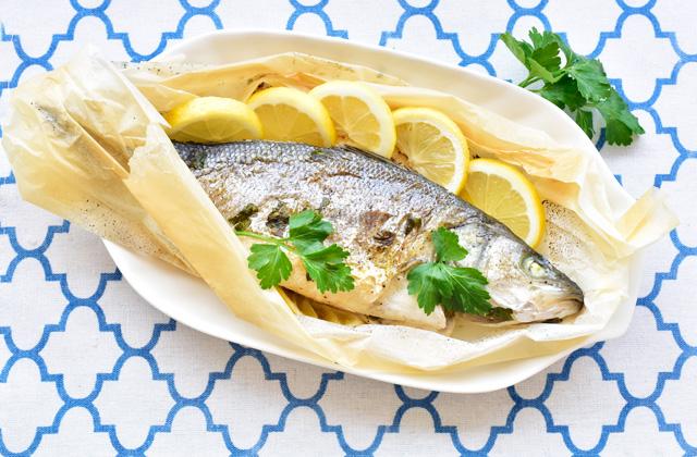 "Sea Bass in Cartoccio ""style ="" width: 640px;"