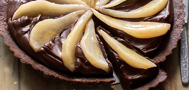 Pears And Chocolate Tart