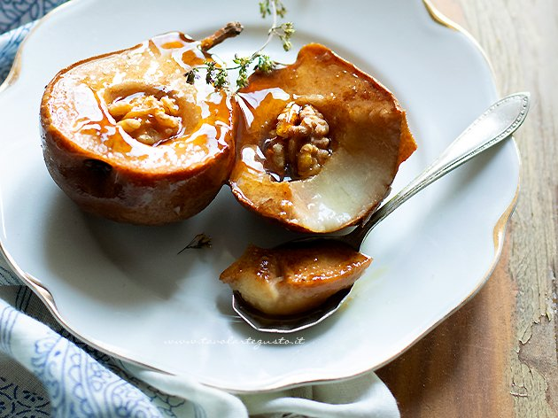 Cooked pears - Recipe Baked pears